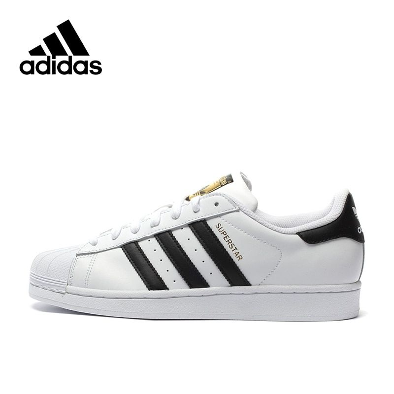 Adidas Authentic New Arrival Originals Superstar Classics Unisex Men's & Women's Breathable Skateboarding Shoes Sneakers C77124