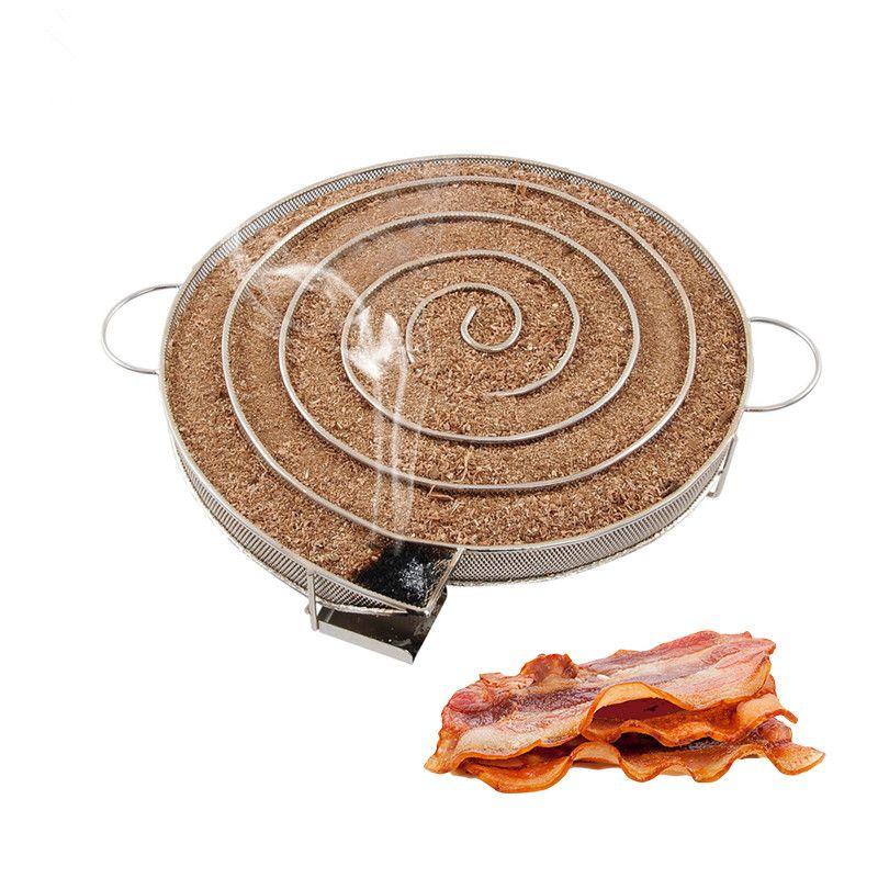 Round Shaped BBQ Accessories Cold Smoke Generator BBQ Grill Cooking Tools for Smoker Flavor Wood Chips Grill Bacon Cold Smoking
