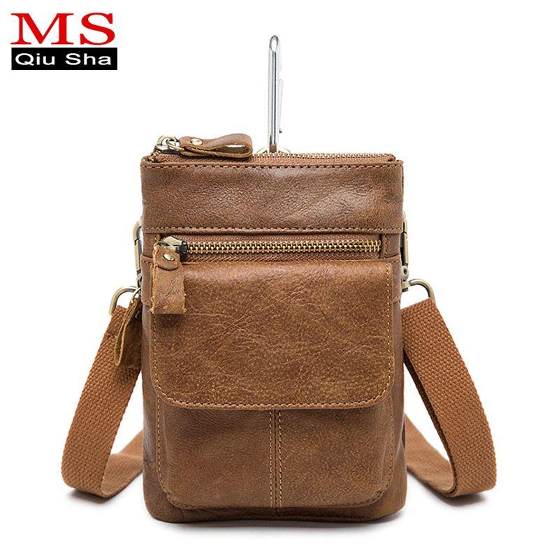 Ms. qiusha небольшой удобный мужской чехол пояса кошелек сумка Пояса из натуральной кожи Для мужчин талии сумка телефон бум поясная мини Для муж...