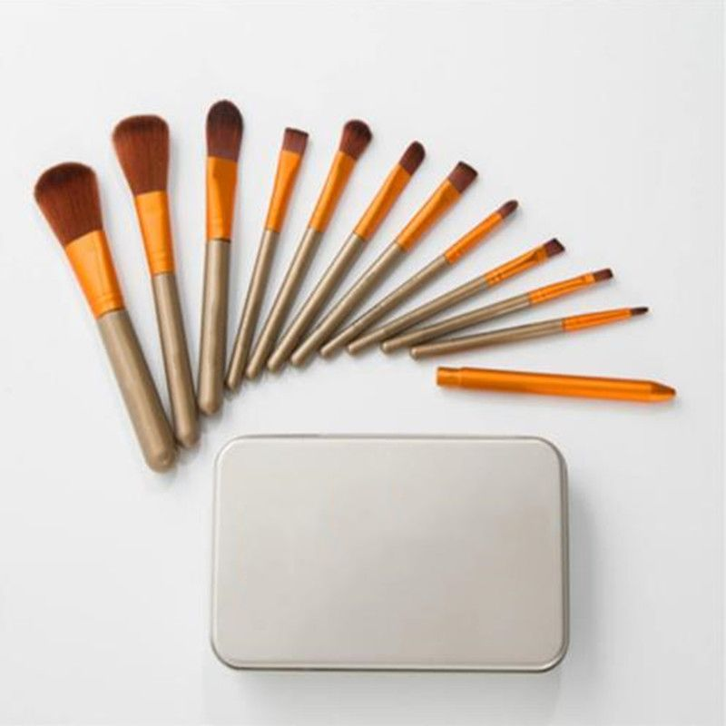 Makeup Brushes 12PC High Quality Makeup Brush Set Eyebrow Shadow Powder Foundation Brush Kit Full Professional Makeup Kit