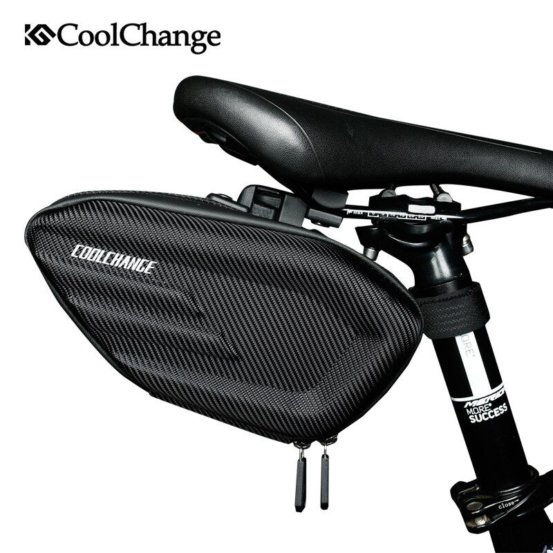 CoolChange Bicycle Saddle Bag Waterproof MTB Bike Rear Bag Reflective Cycling Rear <font><b>Seat</b></font> Tail Large Bag Bike Accessories