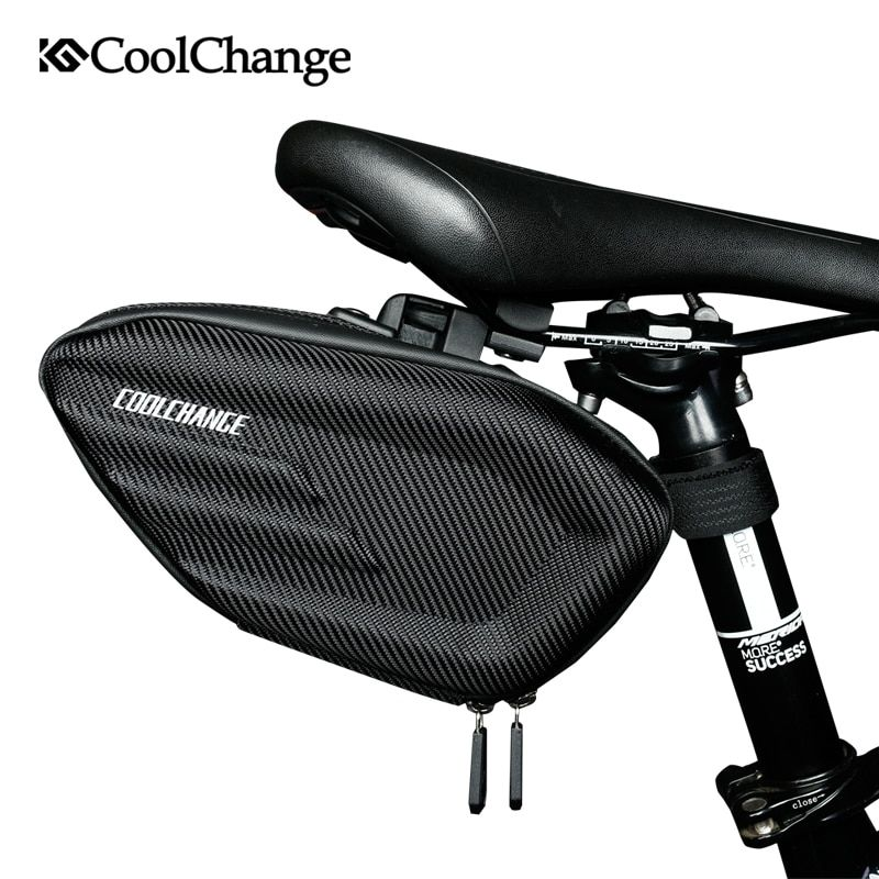 CoolChange <font><b>Bicycle</b></font> Saddle Bag Waterproof MTB Bike Rear Bag Reflective Cycling Rear Seat Tail Large Bag Bike Accessories