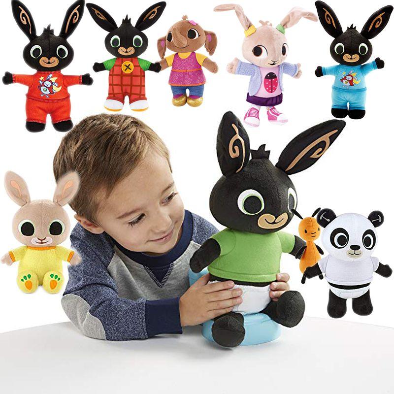 Véritable Bing Lapin En peluche jouet sula flop Hoppity de Voosh pando bing coco en peluche poupée peluche jouets enfants cadeaux d'anniversaire De Noël