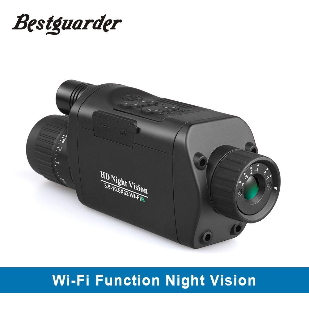 Outdoor Fernrohre Teleskop Fernglas Jagd WiFi Digital Vision Nacht 3,5-10,5x32 HD Infrarot Monokulare Drop Verschiffen