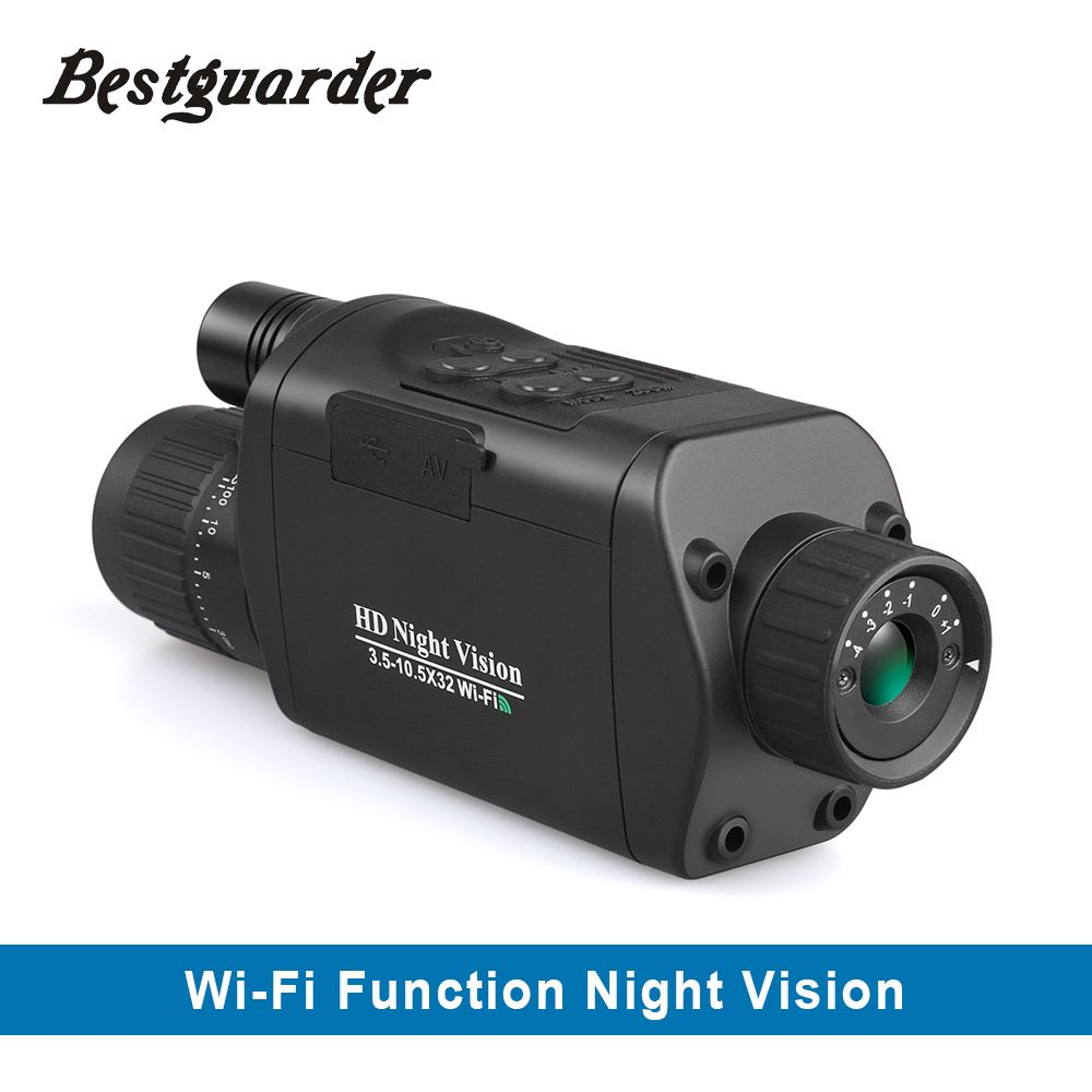 WiFi Digital Night Vision Monocular 3.5-10.5 x 32 HD Infrared Telescope with 1.5