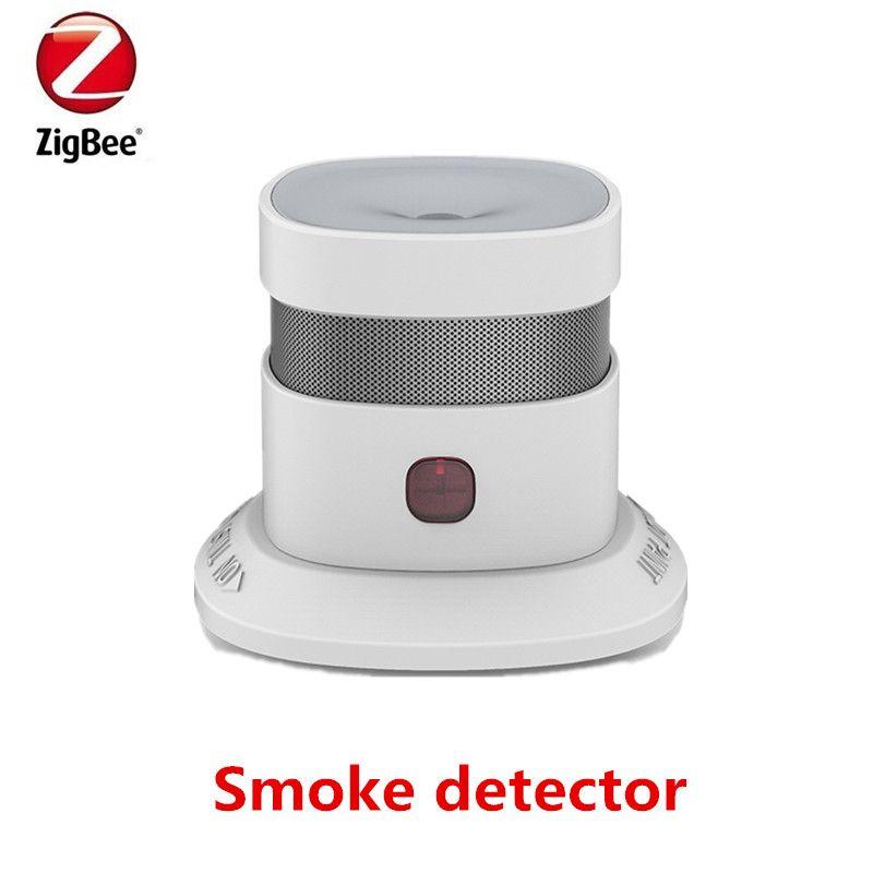 Heiman Zigbee Smart Smoke detector anti-fire alarm smoke sensor with CE ROSH EN14604 approved