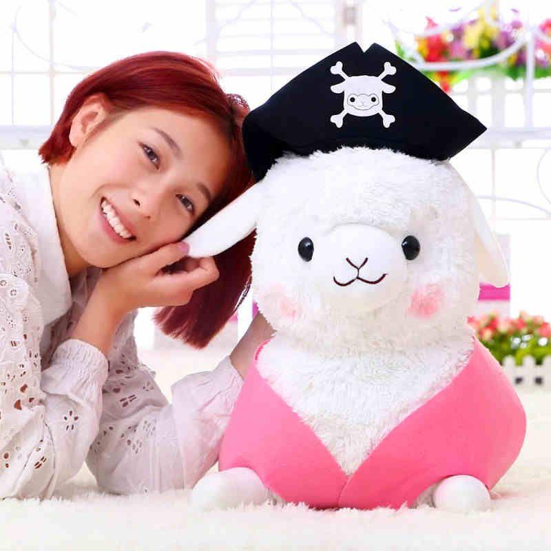 Modèles star créatifs poupées de mouton pirate, peluche alpaga, poupées alpaga, cadeau d'anniversaire filles, livraison gratuite
