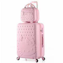 14 + 20 pulgadas Hello Kitty maleta SPINNER Maletas con ruedas, Maletas sobre ruedas, carro del equipaje, bolsas de viaje, Hello Kitty equipaje