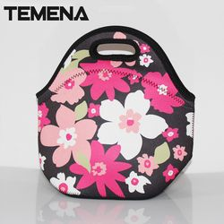 100% Neoprene thermal lunchbox lancheira bolsa de franja thermal bag bolsa termica lunch bags insulation for women ALB394D
