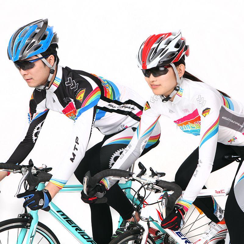Radfahren Anzüge Sommer Langarm Männer und Frauen In Die frühling und Herbst Mountainbike Ausrüstung Mantel Hosen Benutzerdefinierte Radfahren tragen