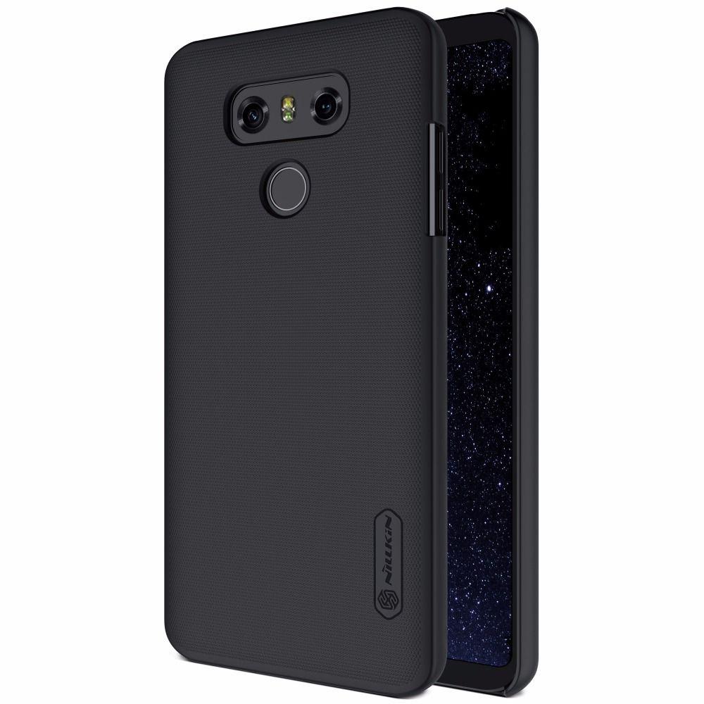 NILLKIN Super Givré Bouclier dur mat Cas pour LG G6 G2 cas de couverture arrière avec protecteur d'écran Gratuit et vendu au détail paquet
