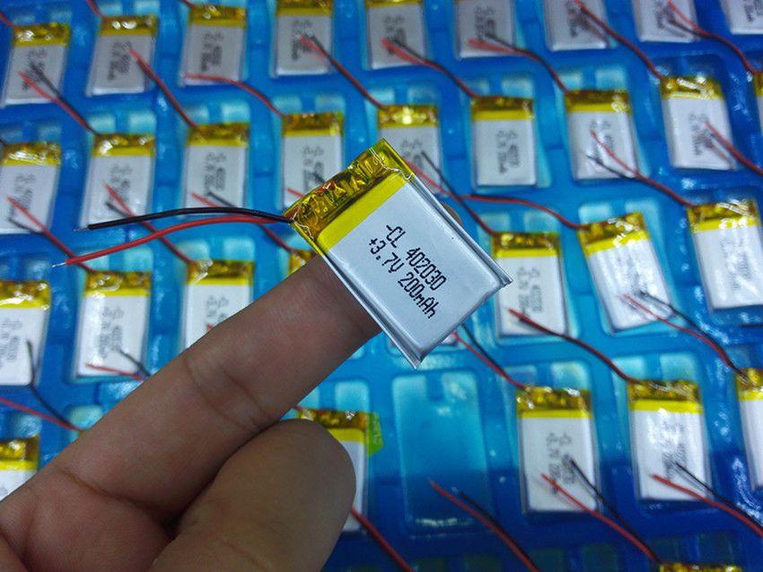 Batterie au lithium polymère 3.7 V, 402030 042030 200 mah peut être personnalisé en gros CE FCC ROHS MSDS certification de qualité