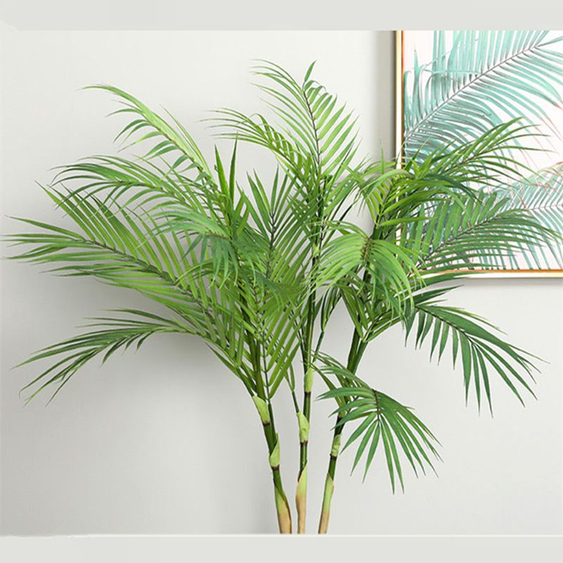 Artificial Palm tree branches wild faux foliage palm leaves plants for home living room wedding decoration jungle party decor