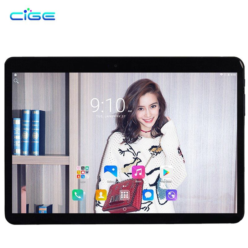 Newest 10.1 inch 2.5D Glass Screen Tablet PC Octa core Android 7.0 Call RAM 4GB ROM 32GB 64GB Tablets PCs Smart phone PAD Gift