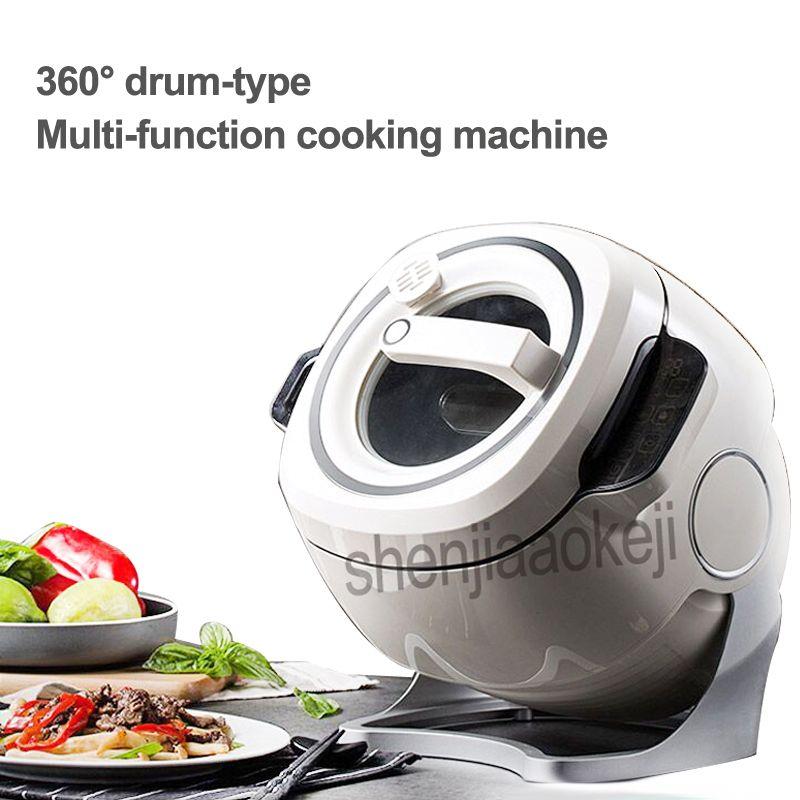 220 V 2000 W Intelligente Automatische Rühren Braten Maschine 6L Haushalt Elektrische Kochen Wok Topf Nicht-stick Multifunktionale Herd topf