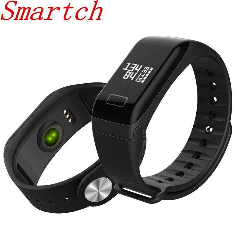 Smartch F1 Bracelets intelligents F1 tensiomètre Bracelet de Fitness Tracker d'activité bande intelligente Bracelet podomètre Smartband
