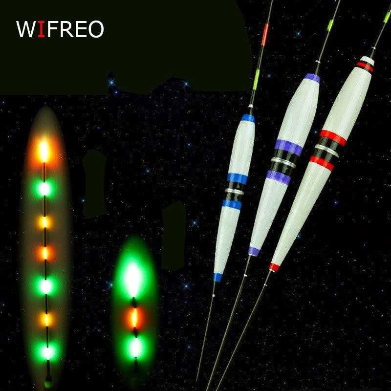 Wifreo 2 stücke Premium Nachtfischen Elektronischen Schwimmt Leucht Elec Bobbers Driftet Batterie Angelgerät