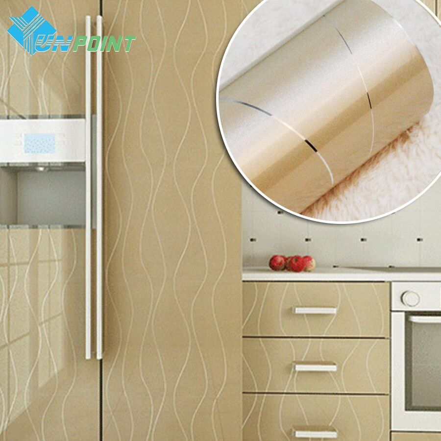 Новый золотой Краски серебряные линии ПВХ декоративные Наклейки теплообмена винил Плёнки Мебель DIY самоклеющиеся обои для Кухня
