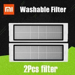 Новый, 2 предмета улучшенная версия моющийся hepa-фильтр для Xiaomi Mi робот Roborock S50 S51 T60 T61 T65 запчасти