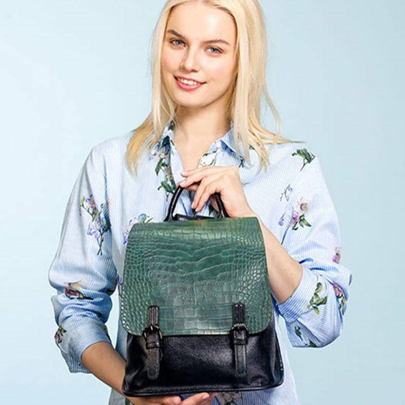 AMELIE GALANTI Mode Frauen Rucksäcke 2018 Weiche PU Leder Rucksack für Mädchen Stilvolle Patchwork Softback Abdeckung Weibliche Rucksäcke