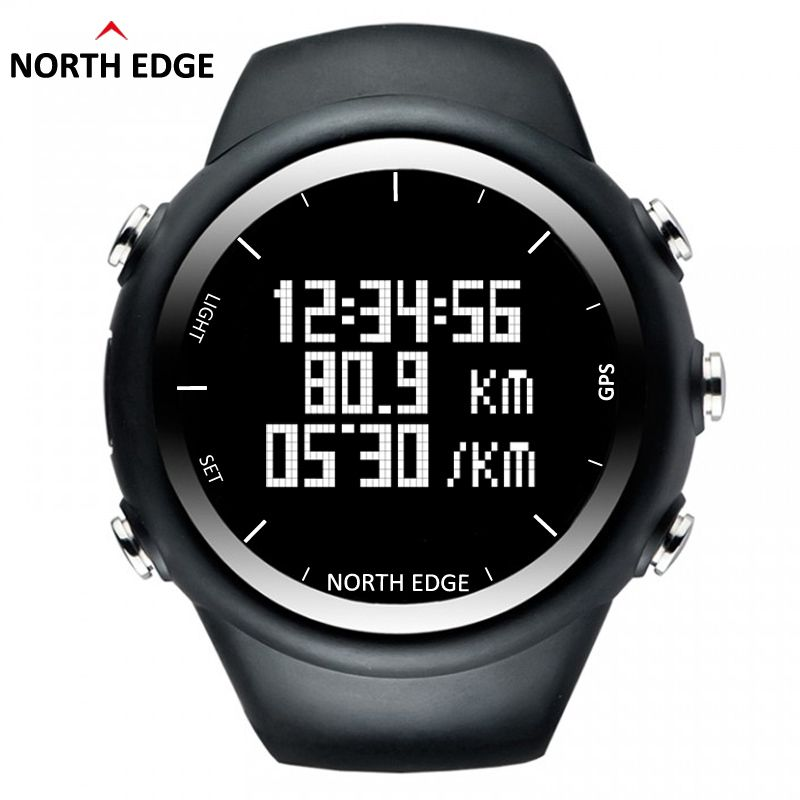 NorthEdge GPS watch digital Hour Men digital wristwatch smart Pace Speed Calorie Running Jogging Triathlon Hiking waterproof