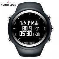Reloj de pulsera digital para hombre, reloj con GPS NorthEdge, reloj de pulsera digital, velocidad inteligente, calorías, correr, correr, triatlón, senderismo, a prueba de agua