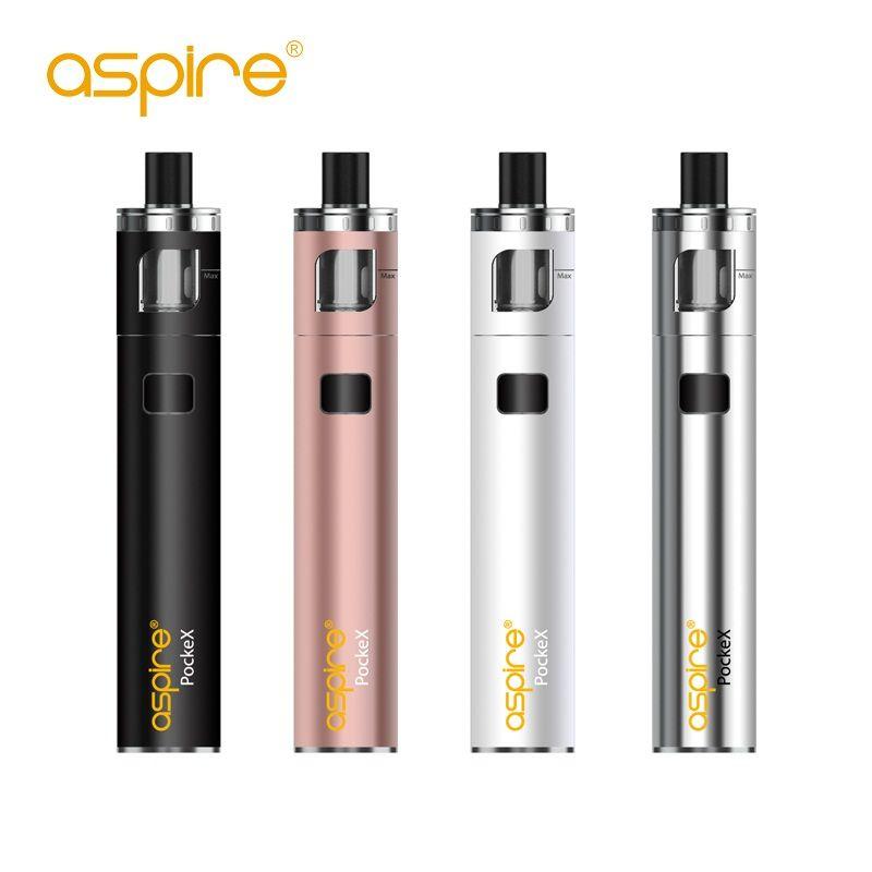 Cigarette électronique originale Aspire PockeX poche AIO Kit avec 0.6ohm bobines tout-en-un 1500 mah capacité Kit Vape VS ego aio kit