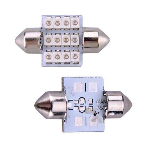 TOYL 2* 12 3528 SMD LED Interior lighting Interior lighting Auto Indicator Blue