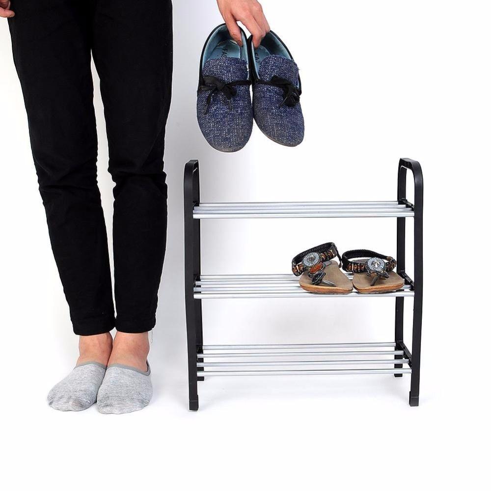 Новые 3 уровня пластиковая обувь Rack Организатор Стенд Полка держатель Блок черный свет для хранения обуви