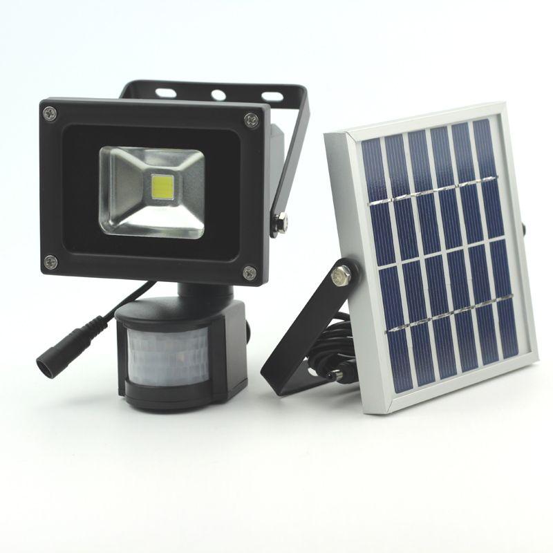 10 W lumière solaire LED mouvement détecté LED lumière de sécurité d'inondation lumière de jardin lumière mur LED imperméable à l'eau