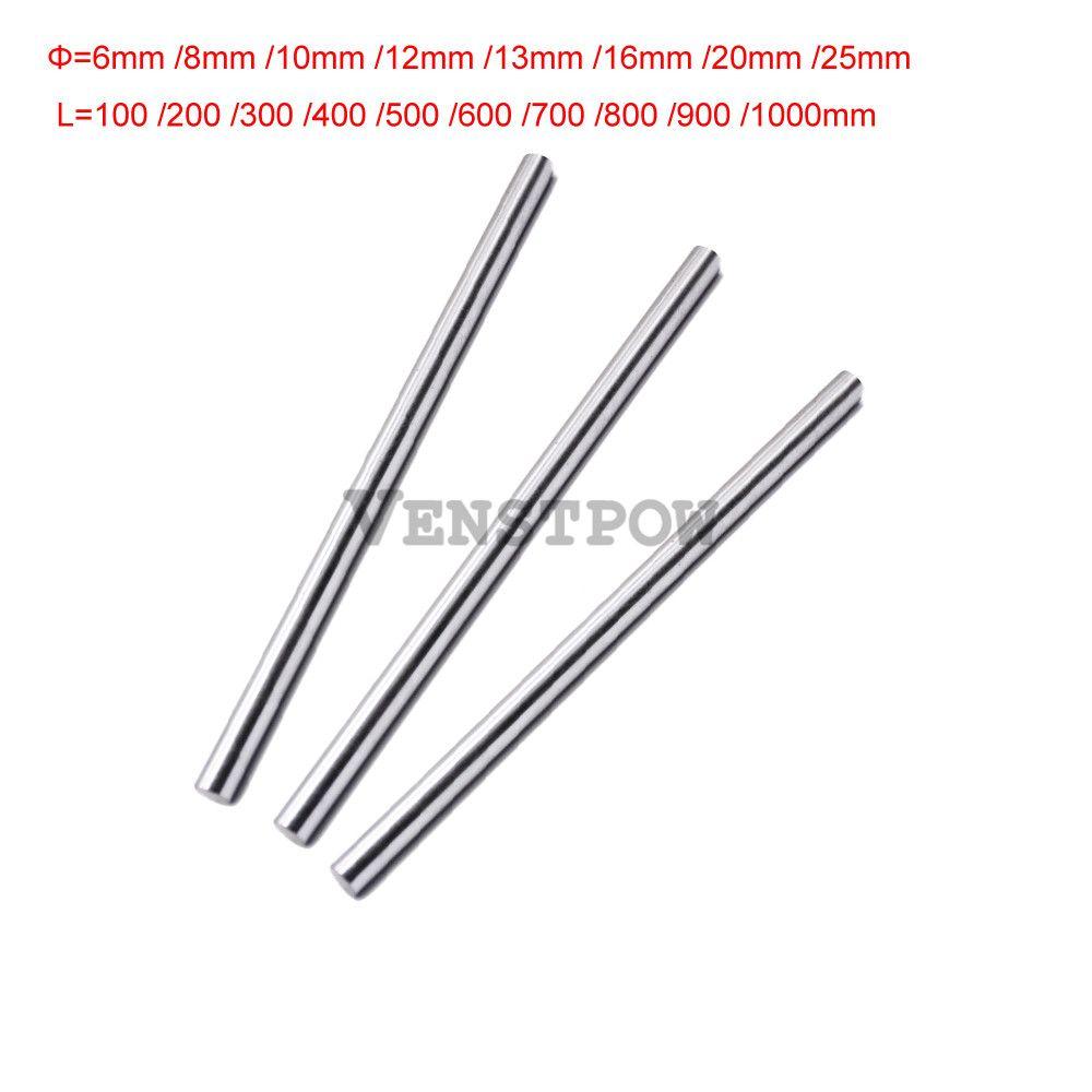 2pcs 12mm 12x400 linear shaft 3d printer 12mm x 400mm Cylinder Liner Rail Linear Shaft axis cnc parts