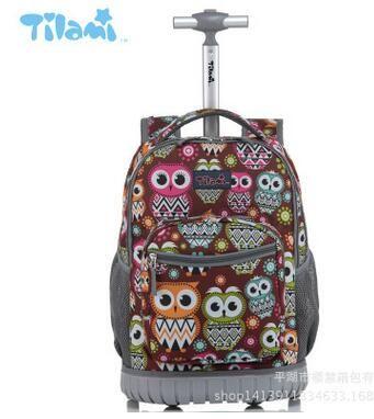 16 18 pouce Roues sac à dos enfants École sac à dos Sur roues Chariot sacs à dos sacs pour adolescents Enfants Rouler L'école sac à dos