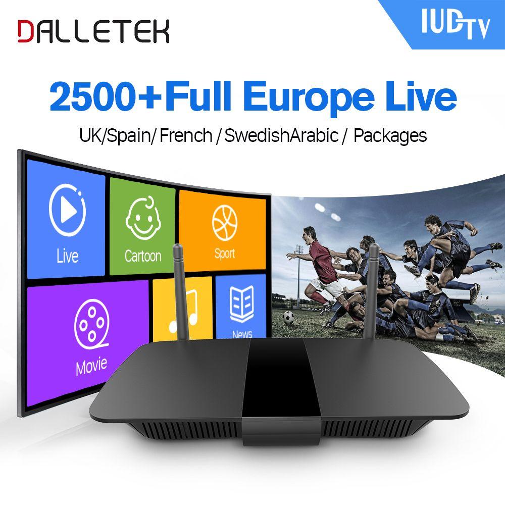Dalletektv IPTV box Android 6.0 Arab French Turkey Sports IPTV Channels with WIFI 1G RAM 8G ROM European Sweden Belgium IPTV Box