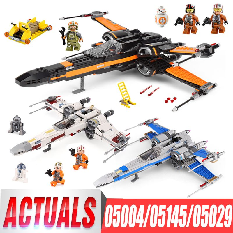 Lepin 05004 First Order Poe's X Wing Fighter 05029 05145 Star Building Blocks Brick Children Toy Wars LegoIGs 10262 75149 75102