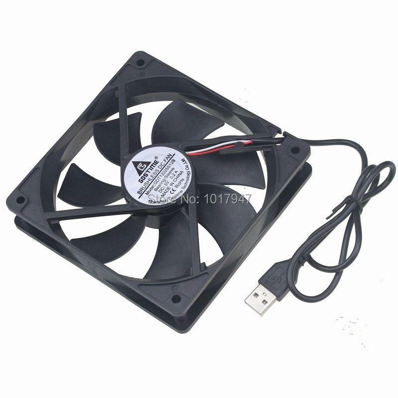 1Pieces Gdstime DC 5V USB 1500RPM 0.2amp 120mmx25mm 120mm Fan PC Computer Case Cooling Cooler