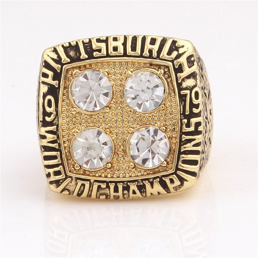 High Quality Fans Ring 1979 Pittsburgh Steelers Championship Ring Replica Sport Man Holiday Gift Maker Low Price