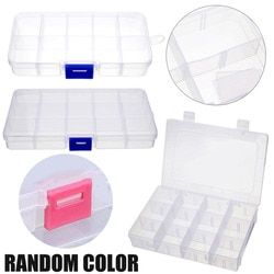 Mayitr 10/15/24 Slots Compartment Organizer Plastic Storage Box Case Container Adjustable Jewelry Box Display Organizer