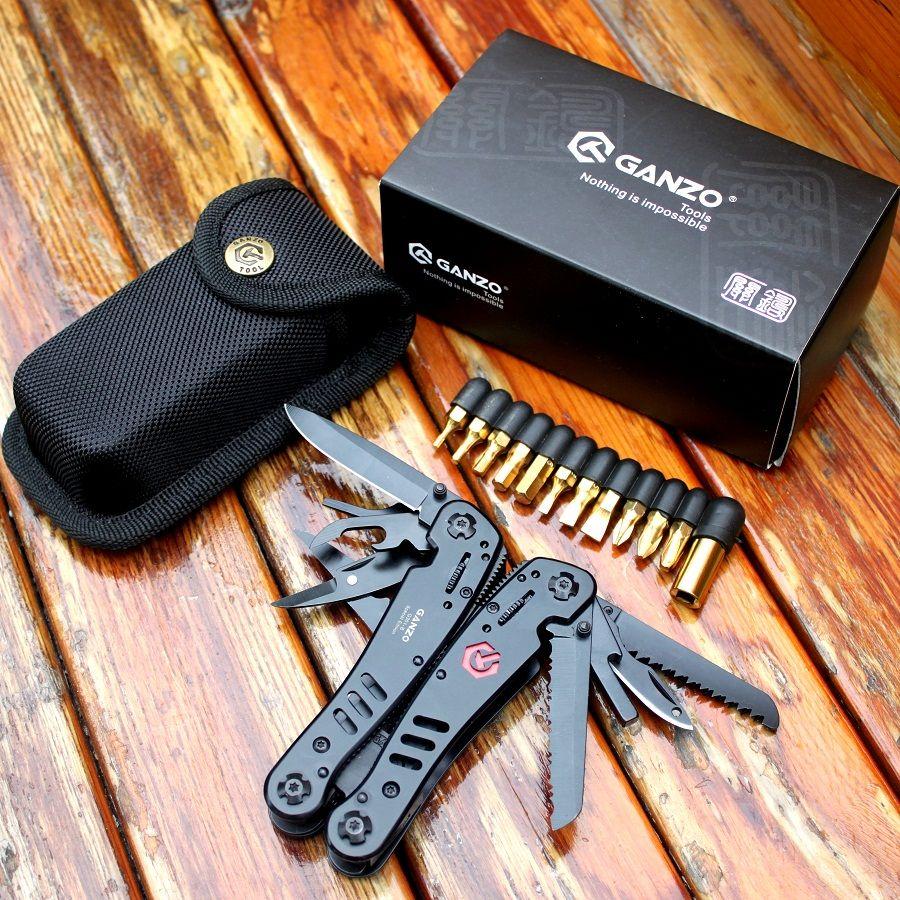 Ganzo couteau outils G301B pince pliante survie en plein air Camping pêche chasse couteaux EDC multi-usages pinces multifonctions