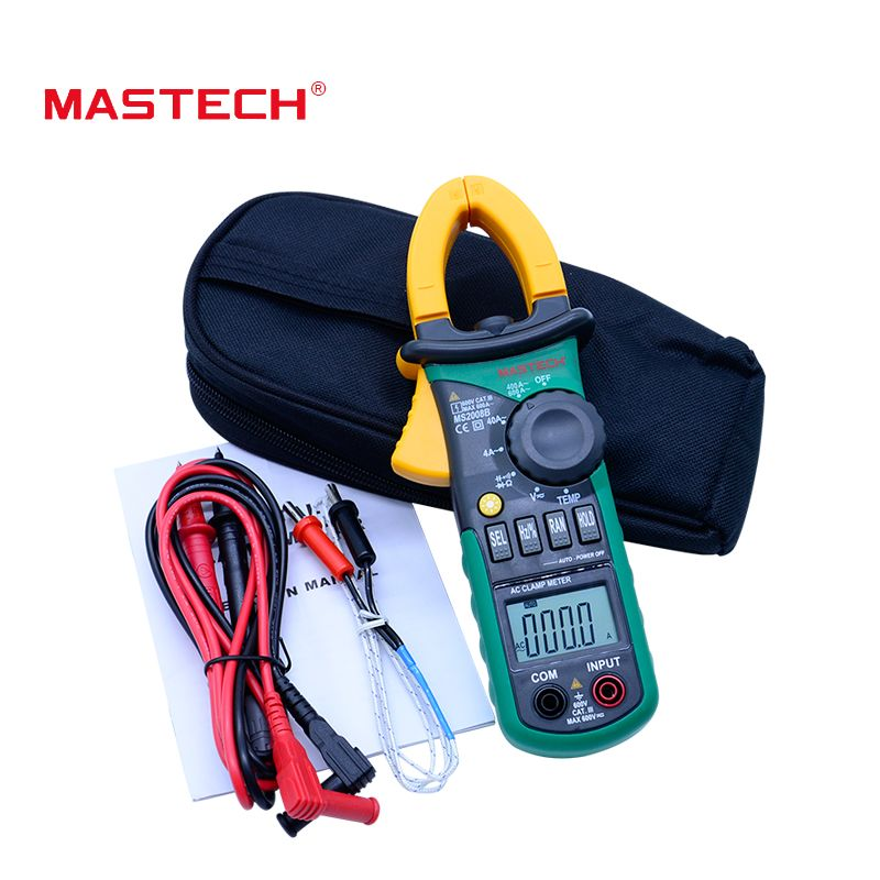 Free Shipping MASTECH MS2008B AC/DC Digital Clamp Meter Electric Multimeter Auto Range Current Ammeter