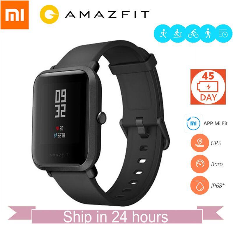 IN Stock English Version Original Huami Amazfit Bip BIT PACE Lite Smart Watch Mi Fit GPS Smartwatch IP68 Waterproof for Xiaomi