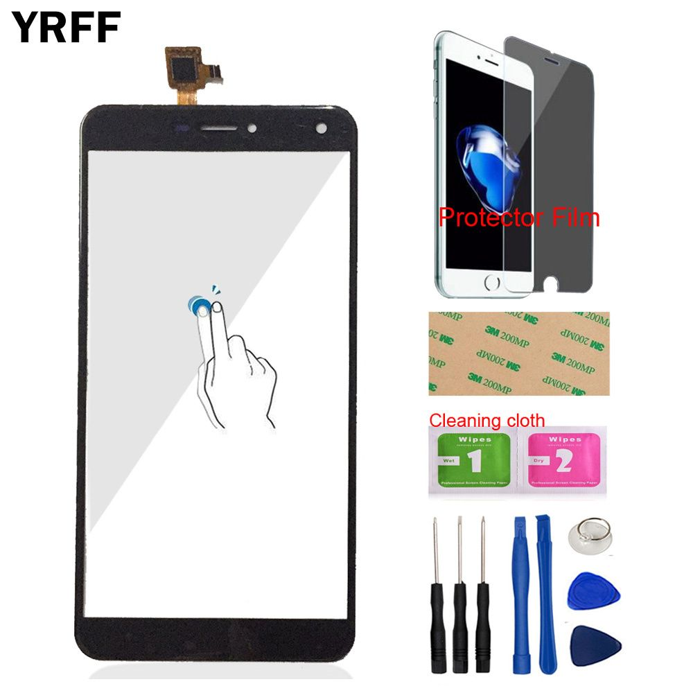 YRFF AAA Repair For Oukitel U11 Plus Front Touch Screen Touch Digitizer Panel Glass Tools Free Protector Film Adhesive
