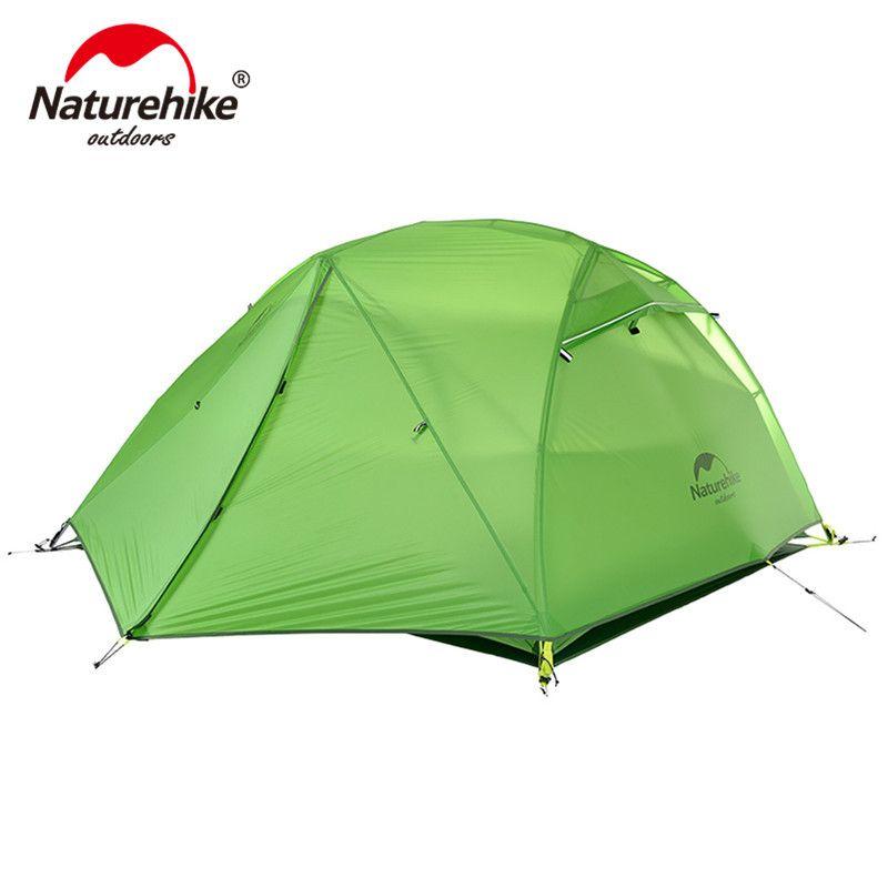 Naturehike Stern Fluss Camping Zelt Verbesserte Ultraleicht 2 Person 4 Saison Zelt Mit Kostenloser Matte NH17T012-T