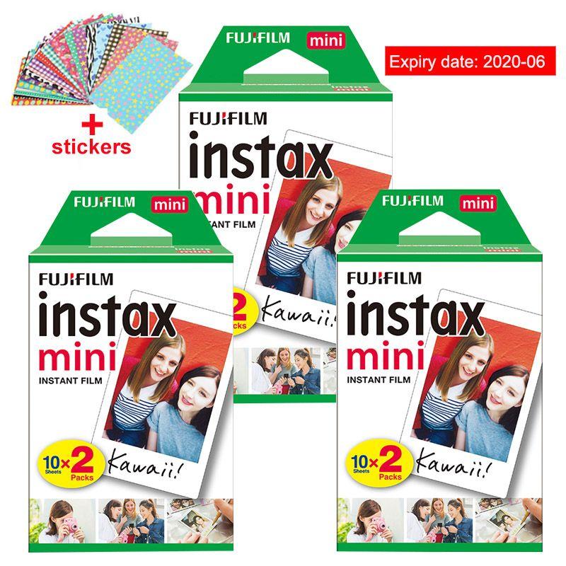 D'origine Fuji Fujifilm Instax Mini 8 Film 60 pcs Blanc Bord Papiers Photo Pour Polaroid 9 7 s 8 90 25 55 partager SP-1 Appareil Photo Instantané