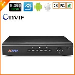 BESDER H.265 Security Network Video Recorder Max 4K H.265 CCTV NVR 4CH 5MP 8CH 4MP Security NVR For H.265/264 IP Camera
