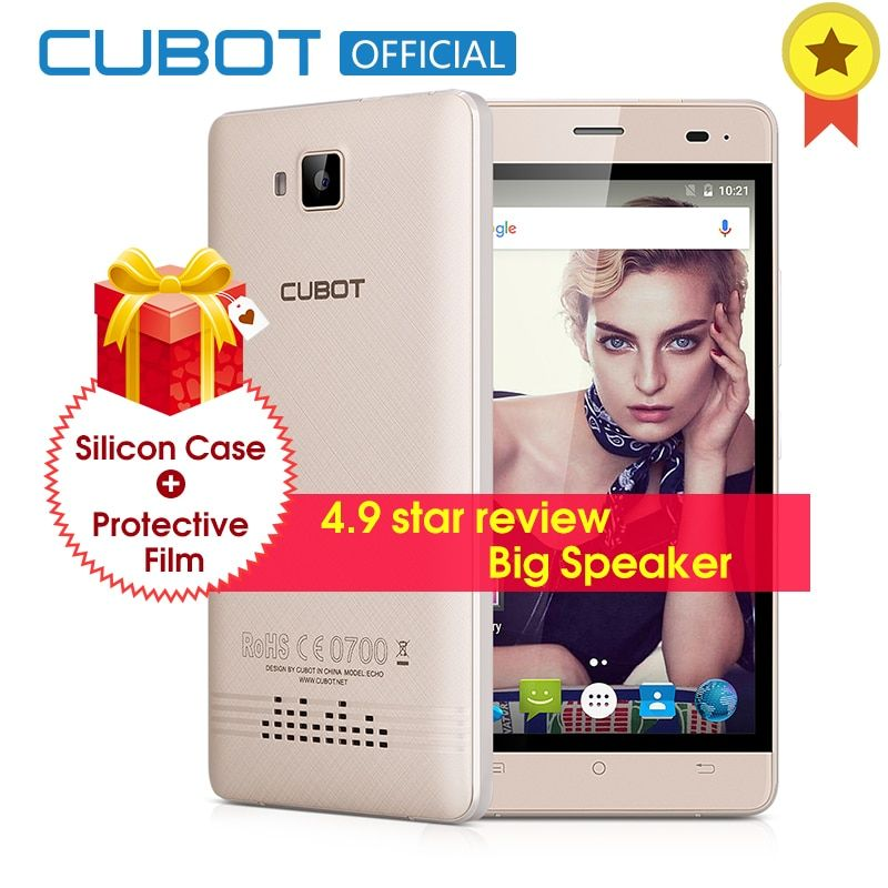 CUBOT ECHO 5.0 Inch 3000mAh Original Smartphone Android 6.0 Cell Phone 2GB RAM 16GB ROM MTK6580 Quad Core Mobile Phone