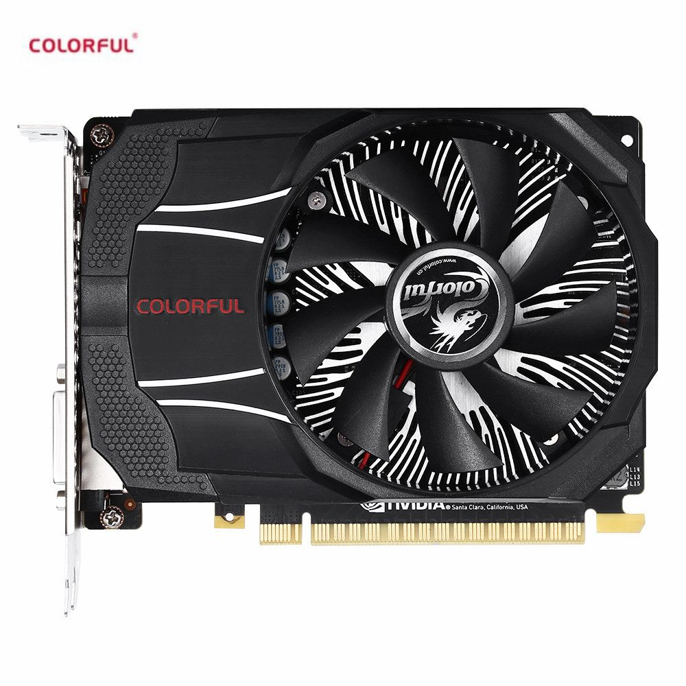 Colorful GTX1050Ti Mini OC 4G New Gaming Graphics Card 7000MHz / 4GB / 128bit / GDDR5 Video Card with One Fan for Game Player