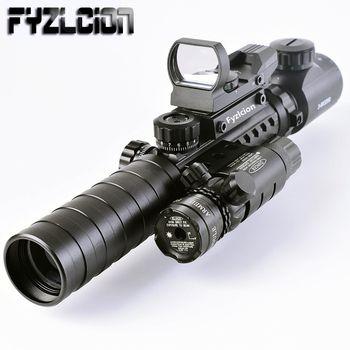 Тактический 3-9X32EG Riflescope Long Range красный точечный Лазер/красный/зеленый точечный голографический рефлекторный прицел 3 в 1 комбо для винтовки/с...