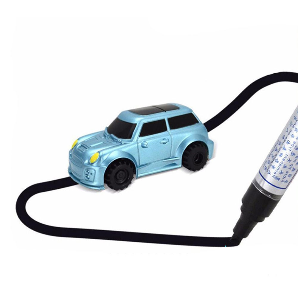 Induction Magic Toy Truck Automatic Induction Road Magic Track Car Driveline Engineering Car With Marker pen Children's Toys
