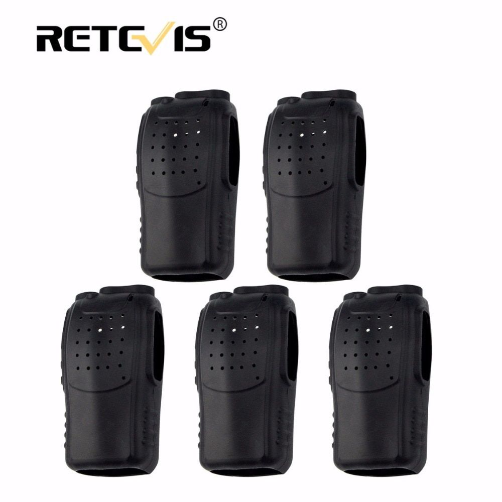 5pcs Soft Rubber Silicon Case Holster Walkie Talkie Holster For Baofeng BF-888S 888S Retevis H777 H-777 2 Way Radio J9104H