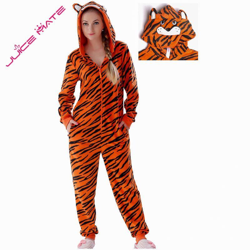 Plus Size Fleece Tiger Pyjamas Women Stitch Onesie Animal Costumes Jumpsuits <font><b>Couple</b></font> Coverall Pajamas Onesie For Adult Kingurumi